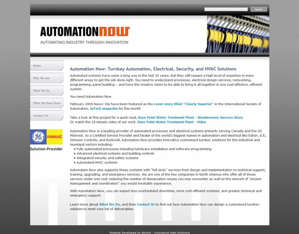 Automation Now - Previous Website