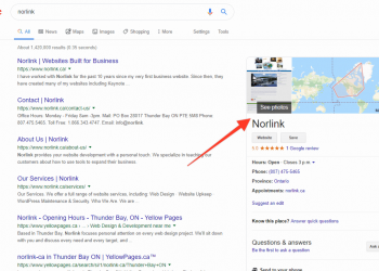 Example of where Google My Business Listing appears